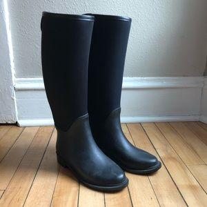 Zara Black Rainboots size 36 (US 6)